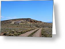 Turquoise Mine Off Hwy 142 2 Greeting Card
