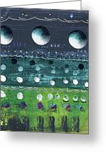 Turquoise Moons Greeting Card