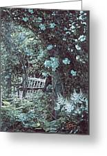 Turquoise Muted Garden Respite Greeting Card
