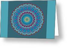 Turquoise Necklace Mandala Greeting Card