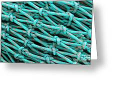 Turquoise Nets Greeting Card