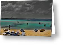 Turquoise Paradise Greeting Card