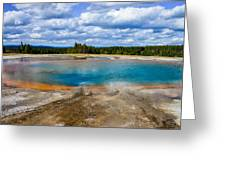 Turquoise Pool, Yellowstone Greeting Card