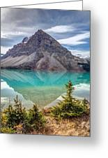 Turquoise Reflection At Bow Lake Greeting Card