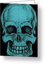 Turquoise Skull Greeting Card