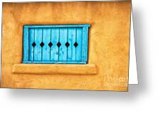Turquoise Window Shutter Greeting Card