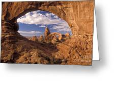 Turret Arch And North Window Greeting Card