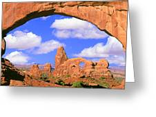 Turret Arch, Arches National Park Greeting Card