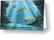 Turtle Reef Greeting Card