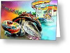 Turtle Slide Greeting Card