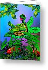 Turtle Trampoline Greeting Card