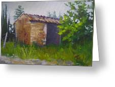 Tuscan Abandoned Farm Shed Greeting Card