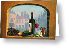 Tuscan Arch Wine Grape Feast Greeting Card by Italian Art