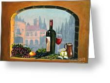 Tuscan Arch Wine Grape Feast Greeting Card by Italian Art