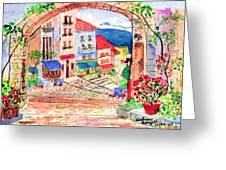 Tuscan Archway II Greeting Card