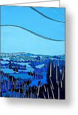 Tuscan Blue View Greeting Card
