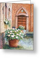 Tuscan Courtyard Greeting Card