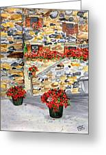 Tuscan Courtyard I Greeting Card