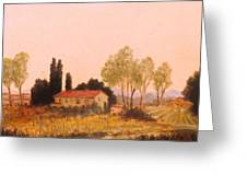 Tuscan Farm  Italy Greeting Card