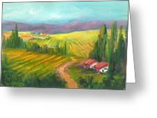 Tuscan Fields Greeting Card
