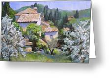 Tuscan  Hilltop Village Greeting Card