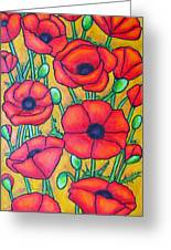 Tuscan Poppies - Crop 1 Greeting Card