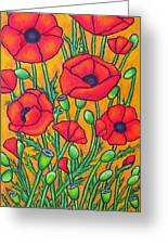 Tuscan Poppies - Crop 2 Greeting Card