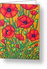 Tuscan Poppies - Crop 2 Greeting Card