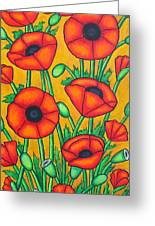 Tuscan Poppies Greeting Card