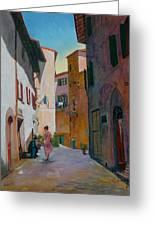 Tuscan Street Greeting Card