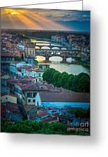 Tuscan Sunbeams Greeting Card by Inge Johnsson