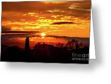 Tuscan Sunset Greeting Card