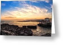 Tuscan Sunset On The Sea In Italy Greeting Card