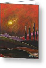 Tuscan Sunset Rage Greeting Card by Italian Art