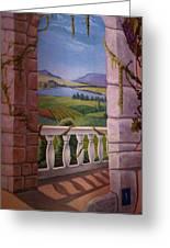 Tuscan Terrace  Greeting Card