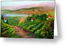 Tuscan Vista Greeting Card