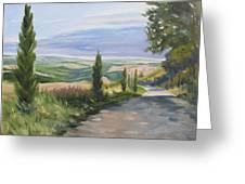 Tuscan Walk Greeting Card