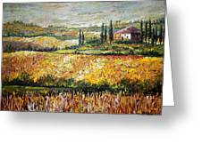 Tuscan Wheat Greeting Card
