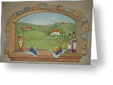 Tuscan Window View Greeting Card