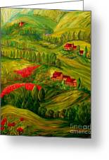 Tuscany At Dawn Greeting Card by Eloise Schneider
