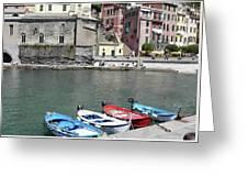 Tuscany Boats Greeting Card