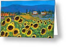 Tuscany Greeting Card by Chris Mc Morrow