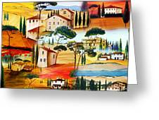 Tuscany Collage Greeting Card
