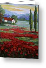 Tuscany Fields Greeting Card