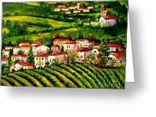 Tuscany Hills Greeting Card
