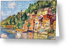 Tuscany On The Lake Greeting Card