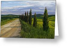Tuscany Road Greeting Card by Jay Johnson
