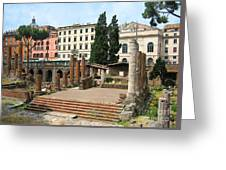 Tuscany- Roman Forum Greeting Card by Italian Art