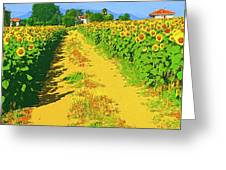 Tuscany Sunflowers Greeting Card