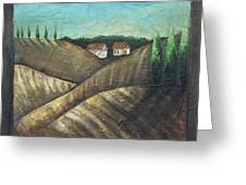 Tuscany Trees Greeting Card